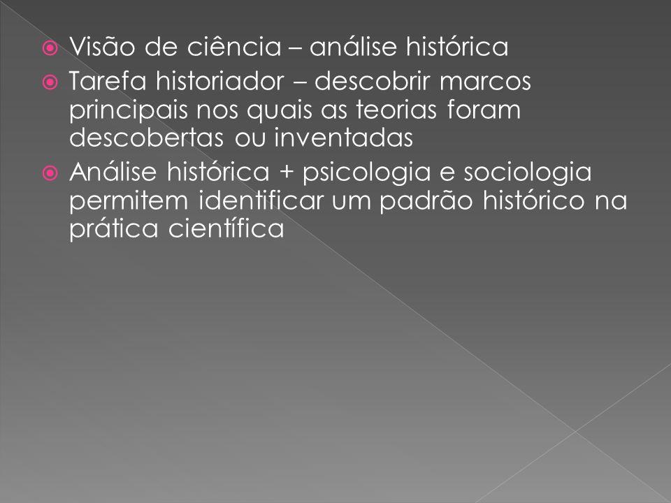Visão de ciência – análise histórica