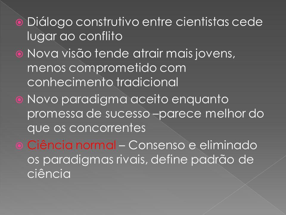 Diálogo construtivo entre cientistas cede lugar ao conflito