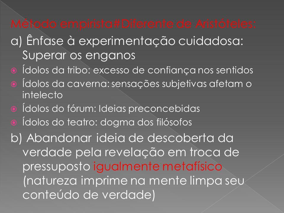 Método empirista#Diferente de Aristóteles: