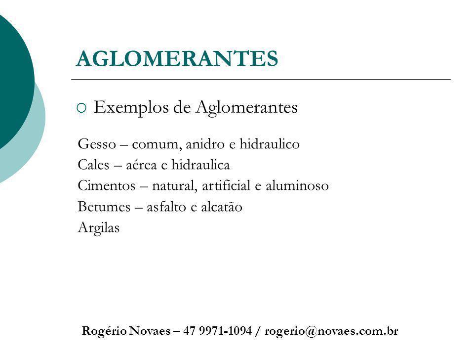 AGLOMERANTES Exemplos de Aglomerantes