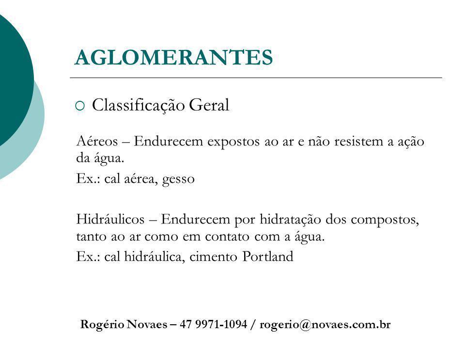 AGLOMERANTES Classificação Geral