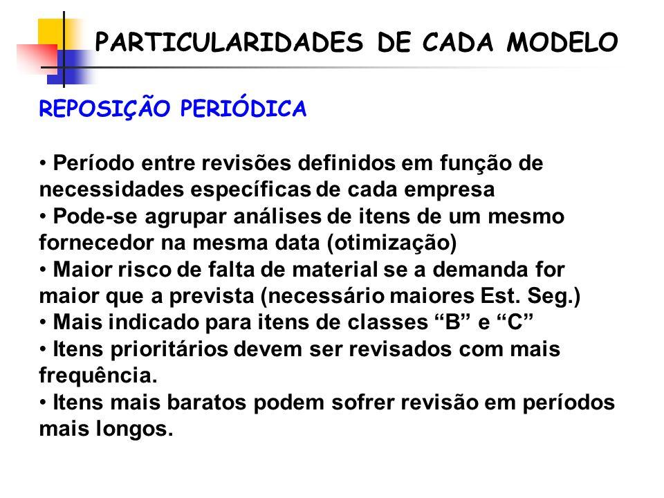 PARTICULARIDADES DE CADA MODELO