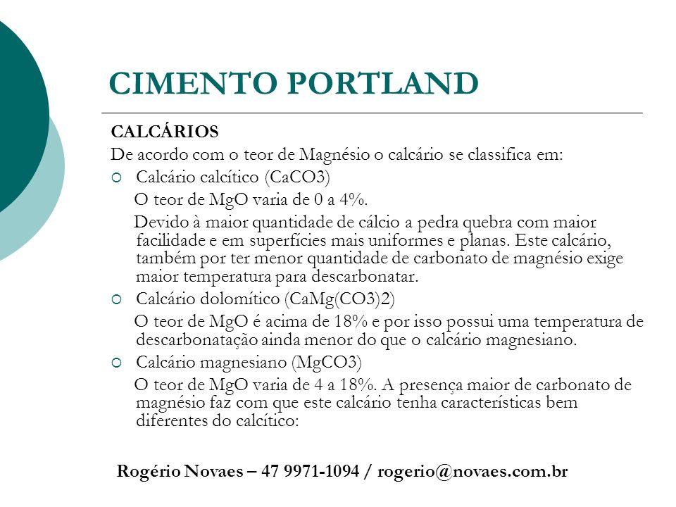 CIMENTO PORTLAND CALCÁRIOS