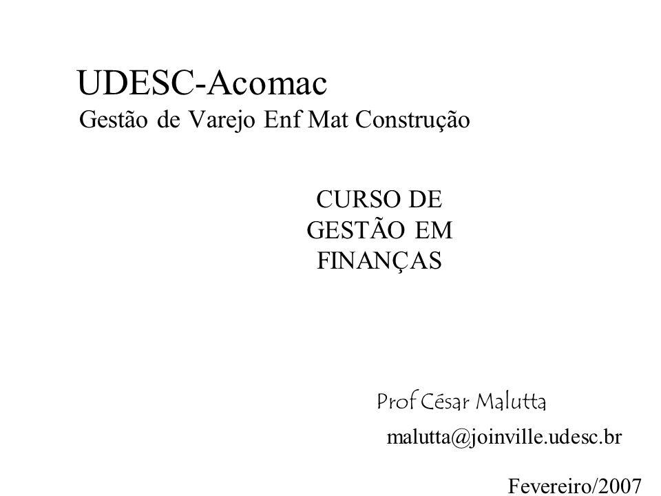 UDESC-Acomac Gestão de Varejo Enf Mat Construção