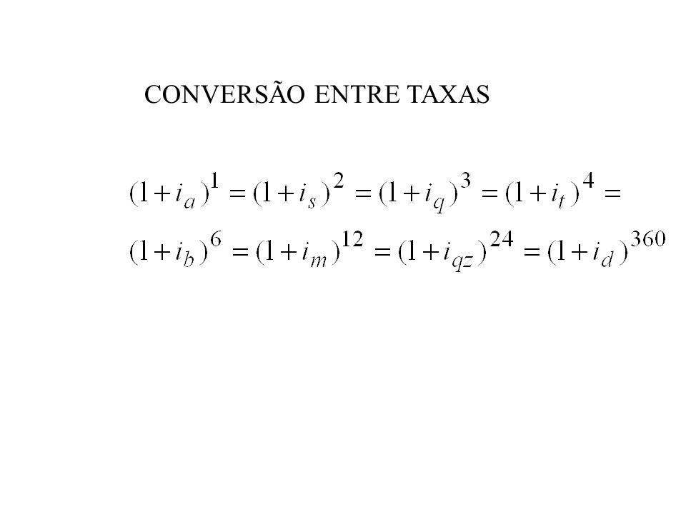 CONVERSÃO ENTRE TAXAS