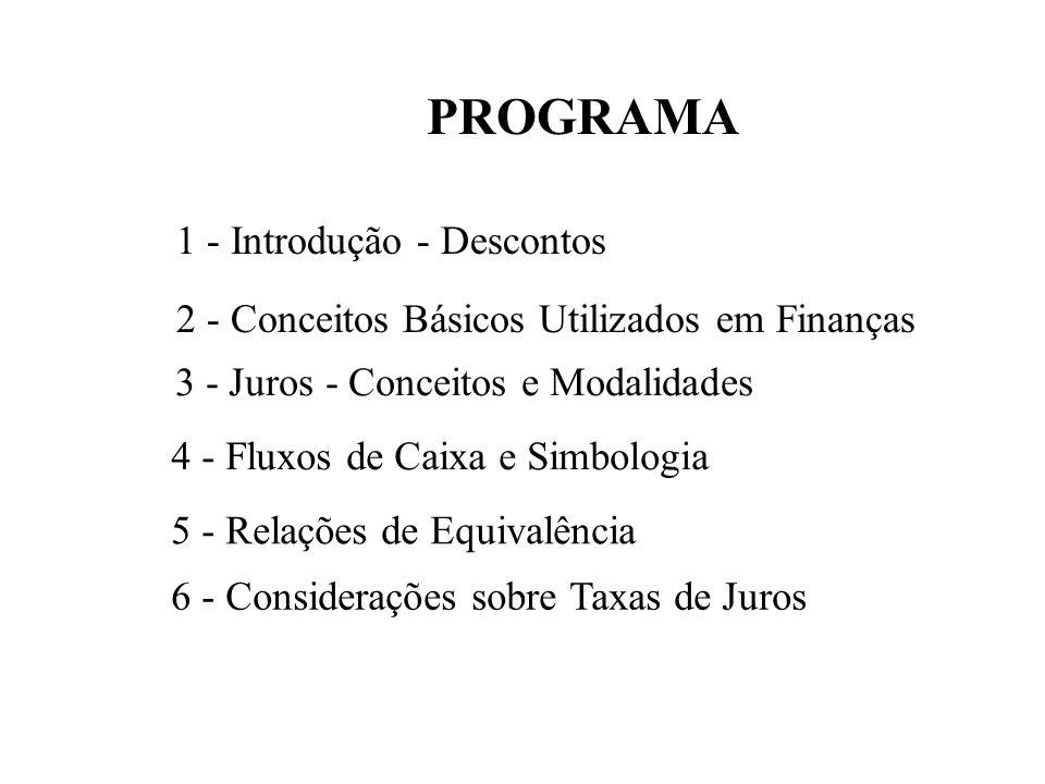 PROGRAMA 1 - Introdução - Descontos