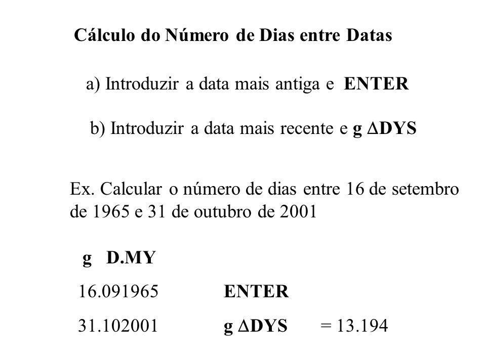 Cálculo do Número de Dias entre Datas