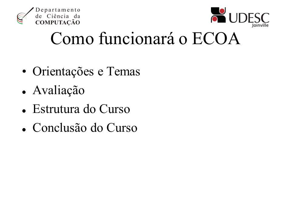 Como funcionará o ECOA Orientações e Temas Avaliação