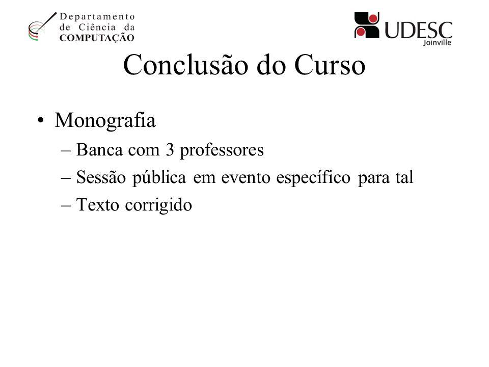 Conclusão do Curso Monografia Banca com 3 professores