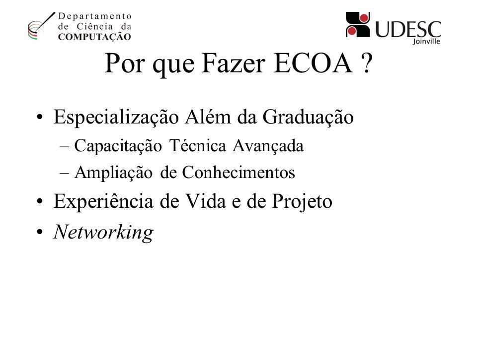 Por que Fazer ECOA Especialização Além da Graduação