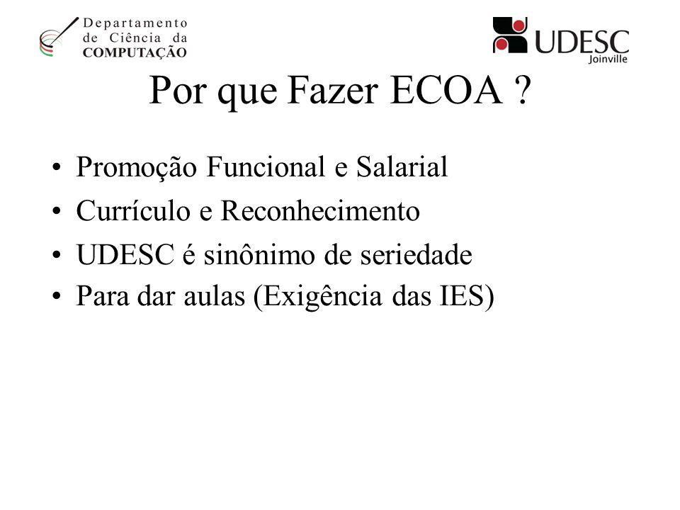 Por que Fazer ECOA Promoção Funcional e Salarial