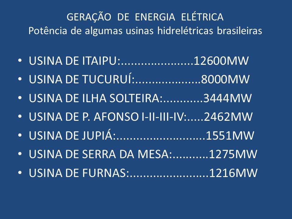 USINA DE ILHA SOLTEIRA:............3444MW