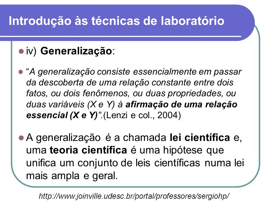 Introdução às técnicas de laboratório