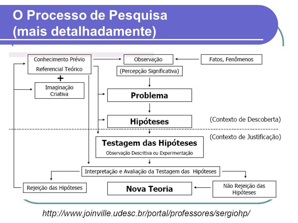 O Processo de Pesquisa (mais detalhadamente)