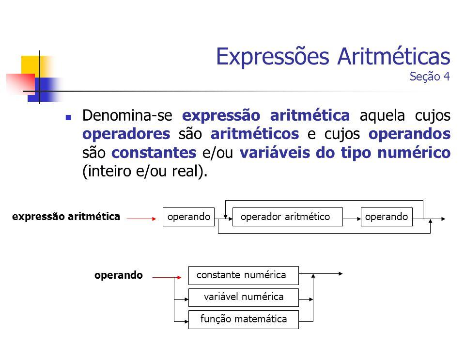 Expressões Aritméticas Seção 4