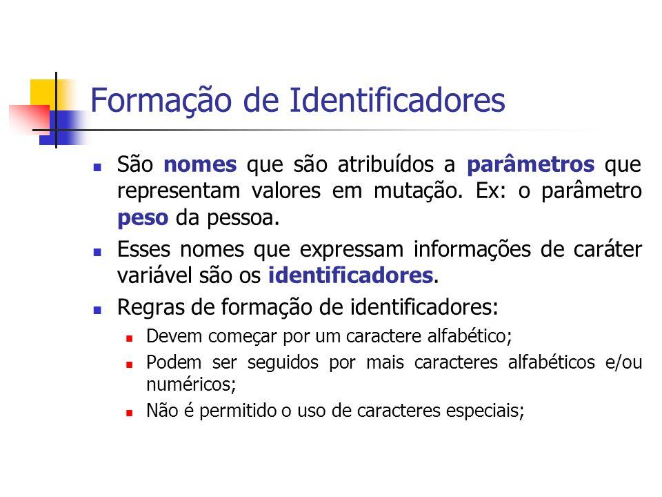 Formação de Identificadores