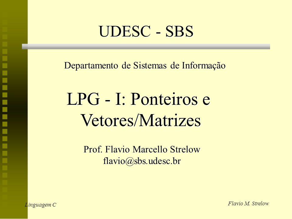 LPG - I: Ponteiros e Vetores/Matrizes UDESC - SBS