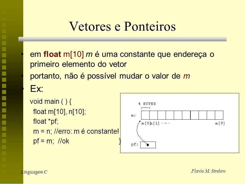 Vetores e Ponteiros Ex:
