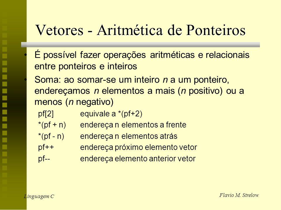 Vetores - Aritmética de Ponteiros