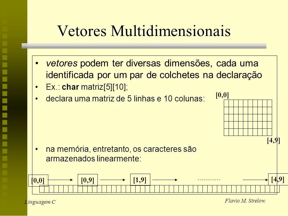 Vetores Multidimensionais