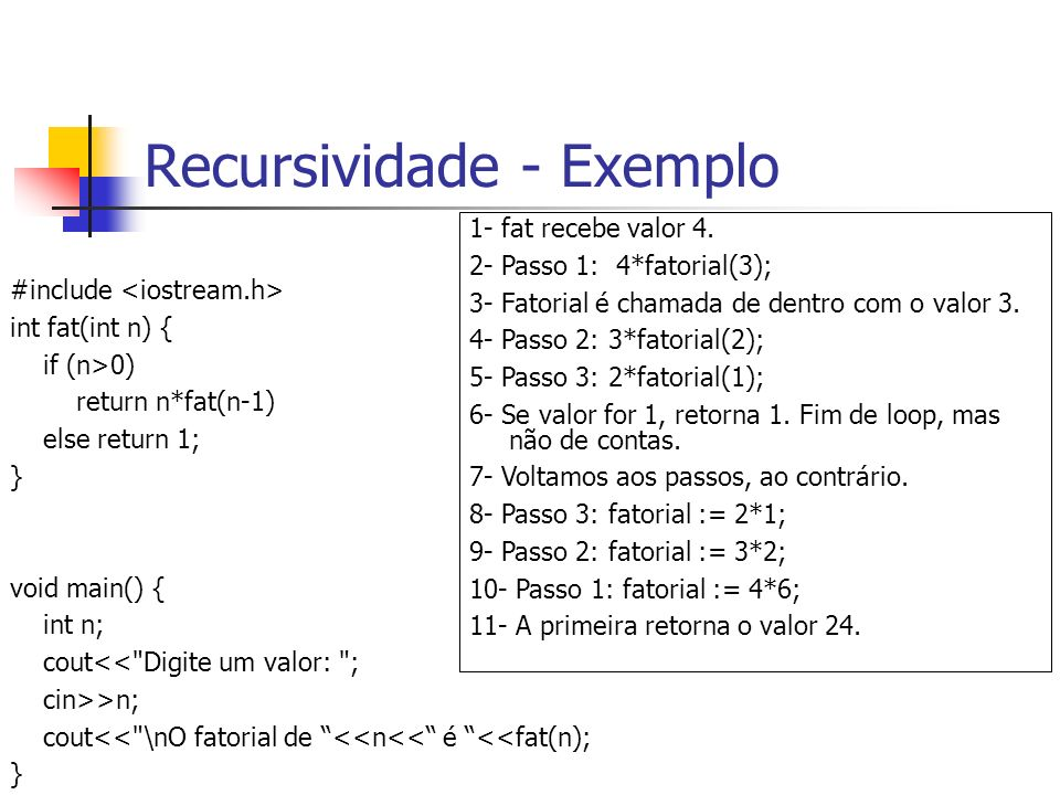 Recursividade - Exemplo