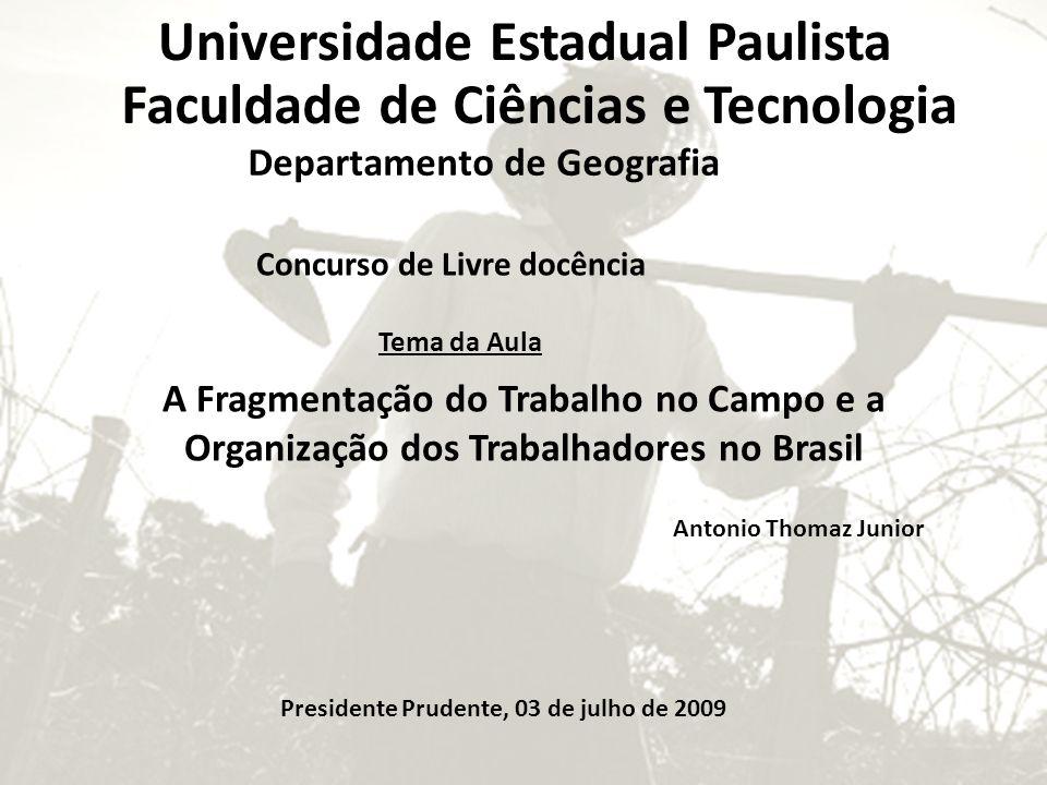 Universidade Estadual Paulista Faculdade de Ciências e Tecnologia