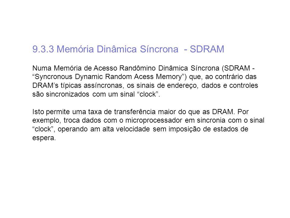 9.3.3 Memória Dinâmica Síncrona - SDRAM