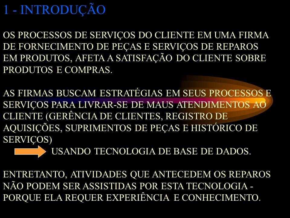 1 - INTRODUÇÃO OS PROCESSOS DE SERVIÇOS DO CLIENTE EM UMA FIRMA