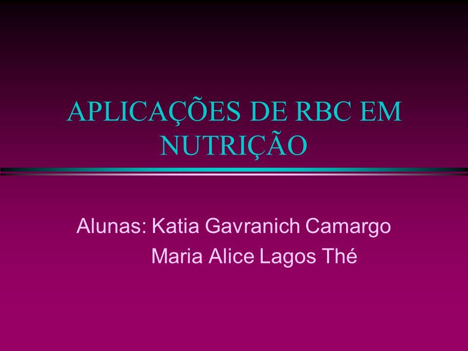 APLICAÇÕES DE RBC EM NUTRIÇÃO