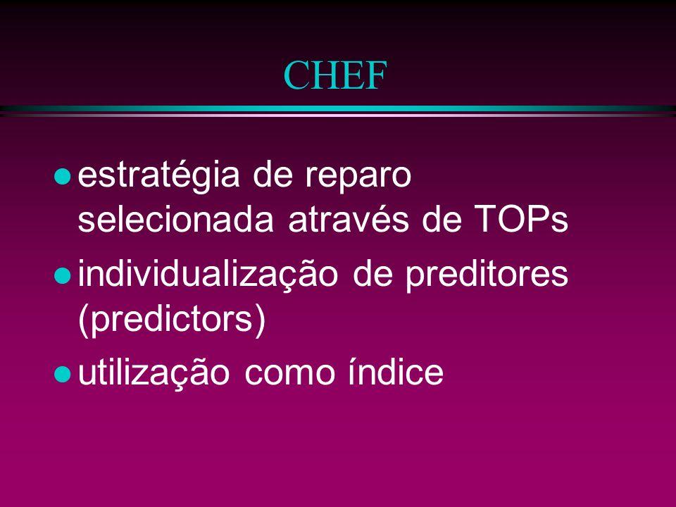 CHEF estratégia de reparo selecionada através de TOPs
