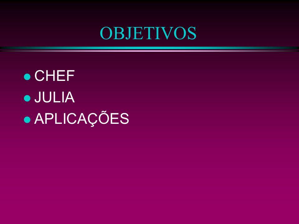OBJETIVOS CHEF JULIA APLICAÇÕES