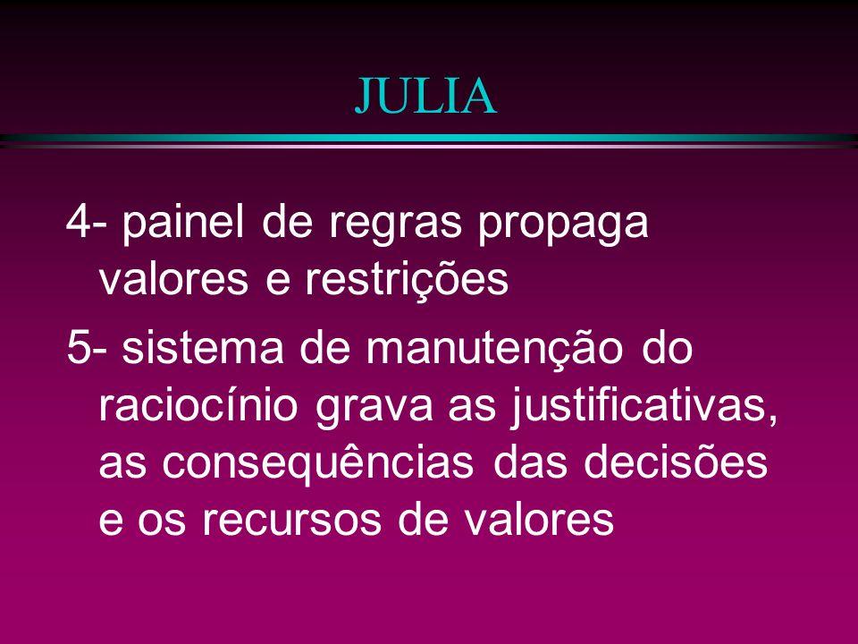 JULIA 4- painel de regras propaga valores e restrições