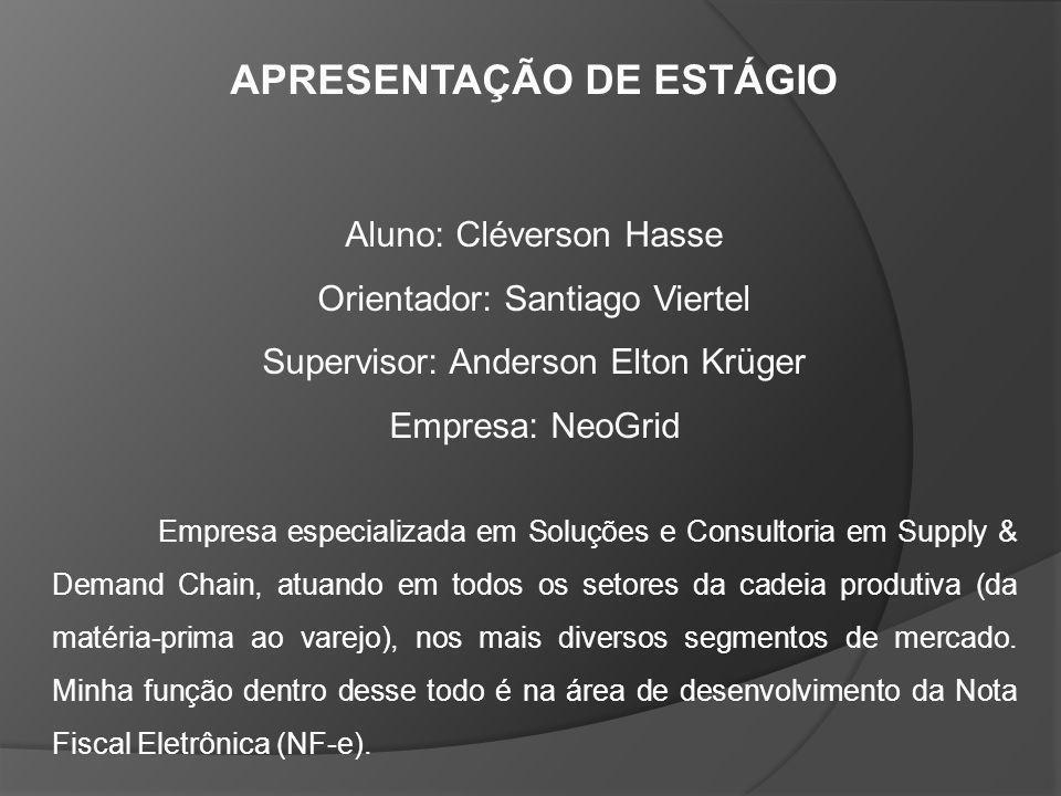 APRESENTAÇÃO DE ESTÁGIO