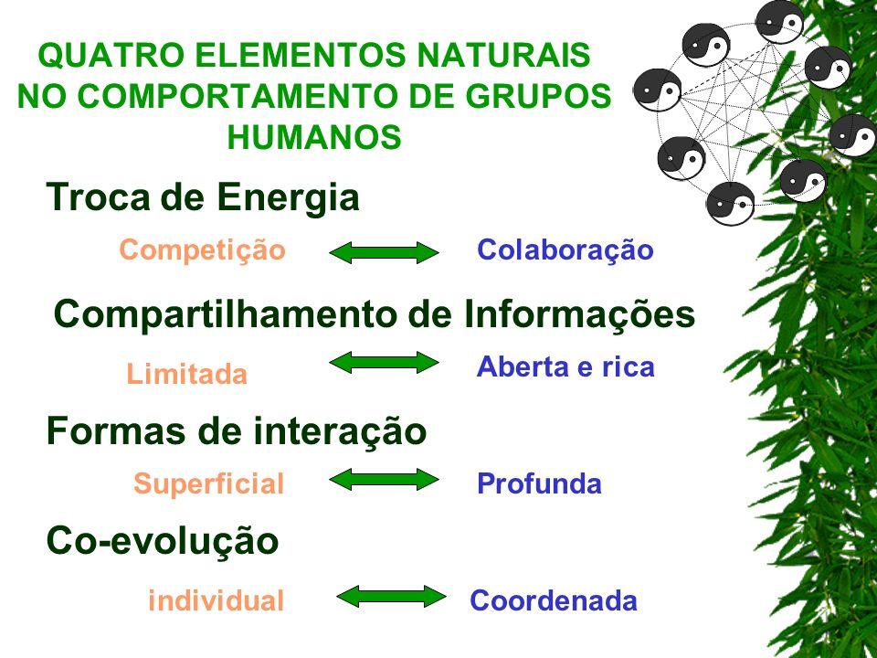 QUATRO ELEMENTOS NATURAIS NO COMPORTAMENTO DE GRUPOS HUMANOS