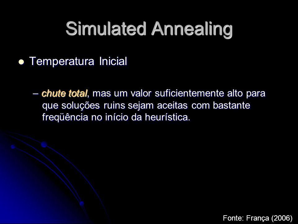 Simulated Annealing Temperatura Inicial