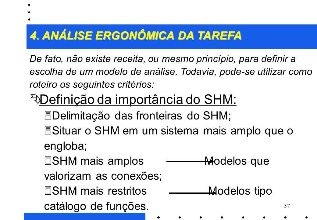 Definição da importância do SHM: