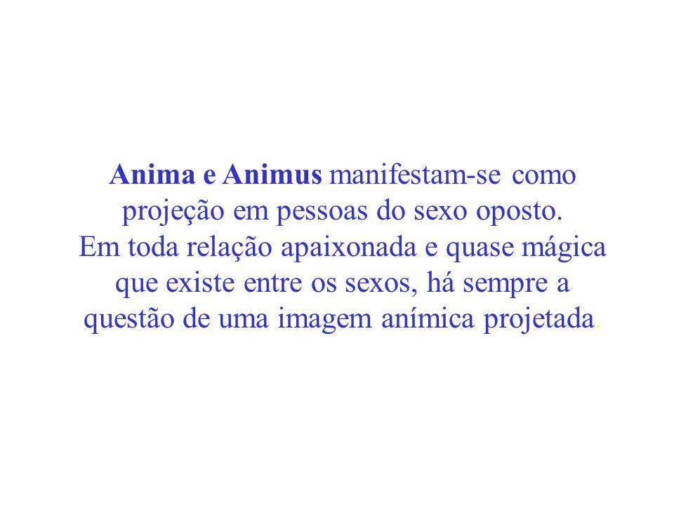 Anima e Animus manifestam-se como projeção em pessoas do sexo oposto.