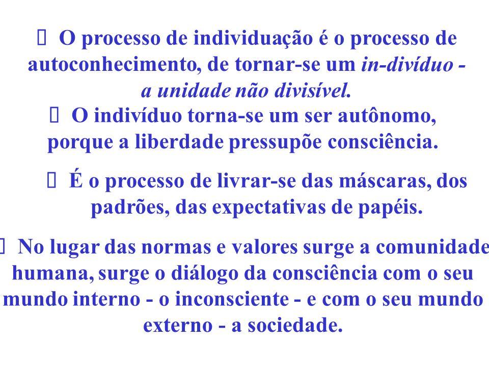 ü O processo de individua. çã. o. é. o processo de. autoconhecimento. , de tornar. - se um.