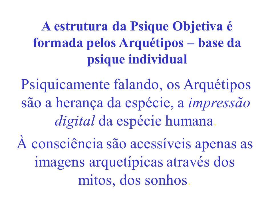 A estrutura da Psique Objetiva é formada pelos Arquétipos – base da psique individual