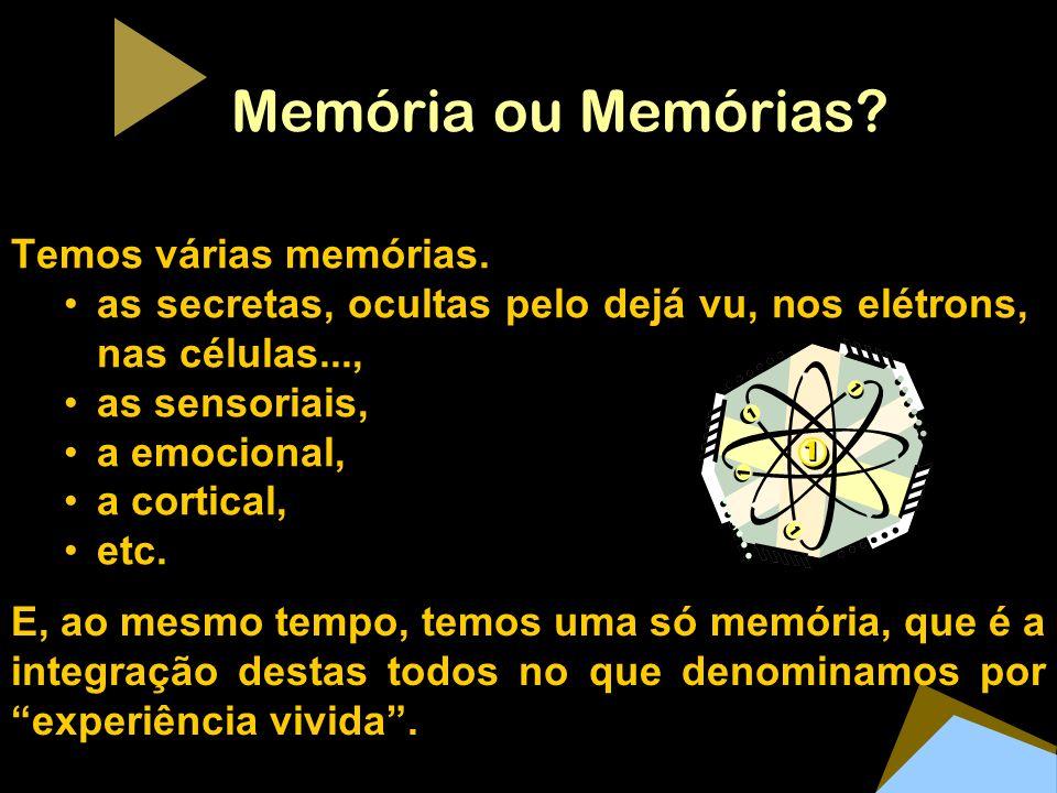 Memória ou Memórias Temos várias memórias.
