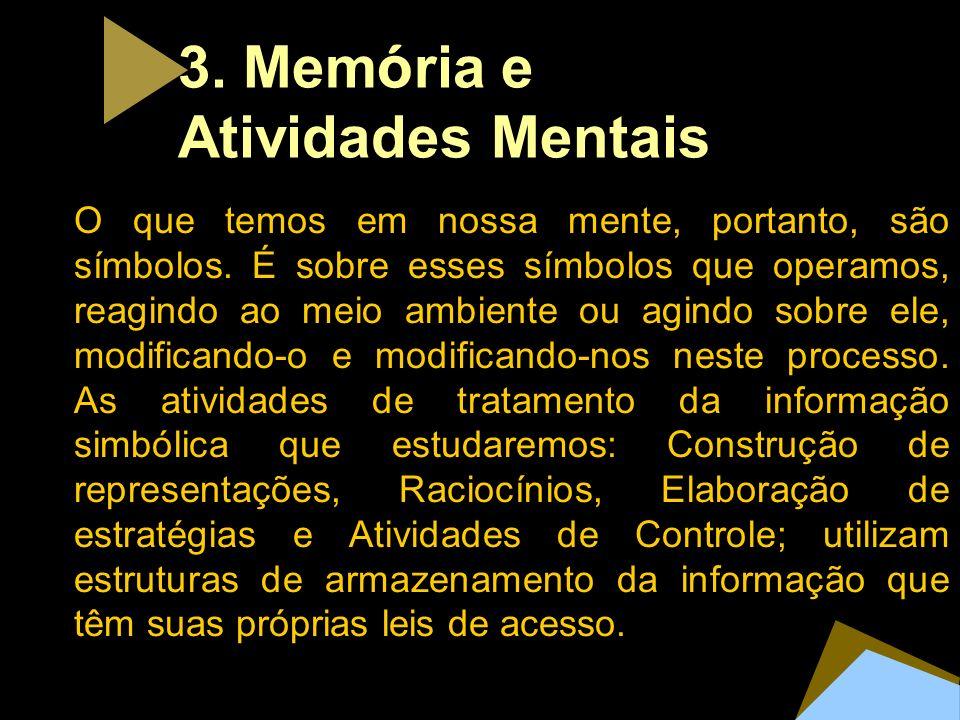 3. Memória e Atividades Mentais