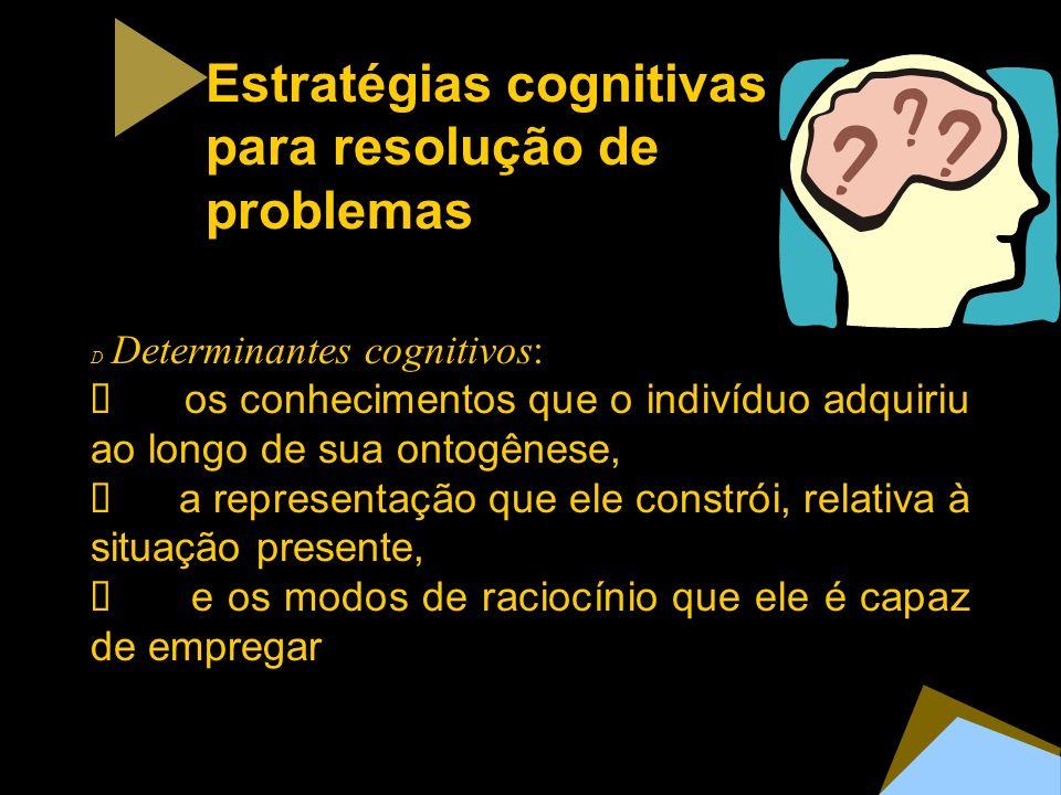 Estratégias cognitivas para resolução de problemas