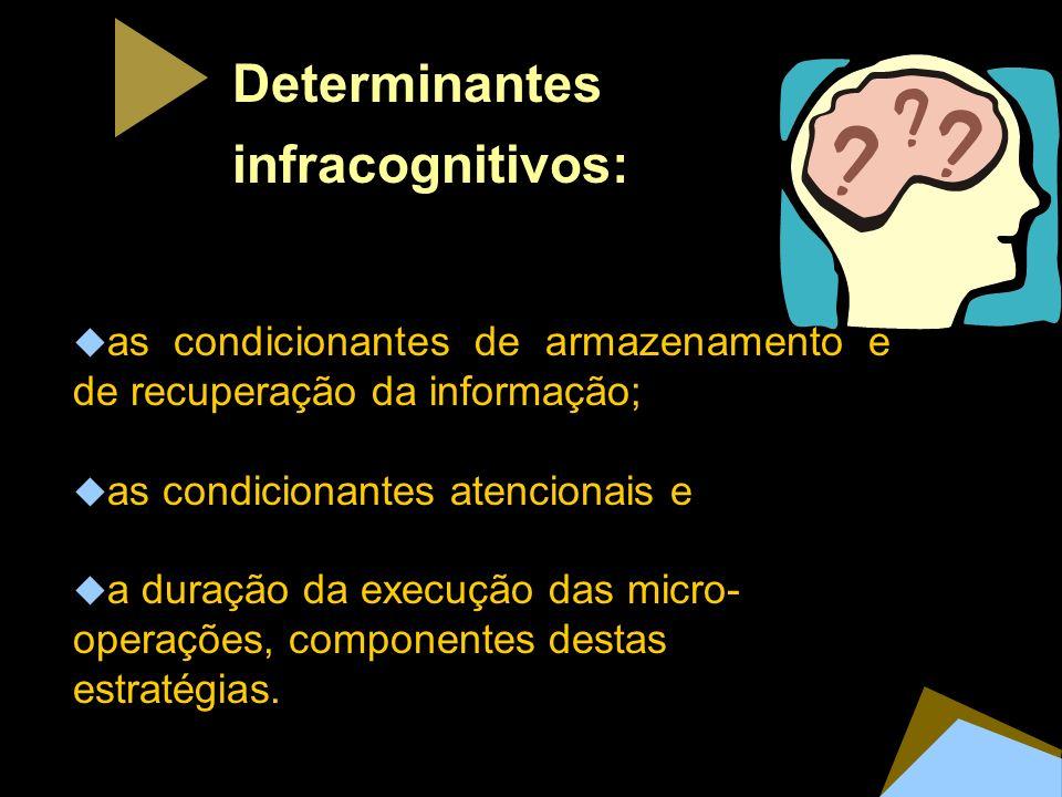 Determinantes infracognitivos: