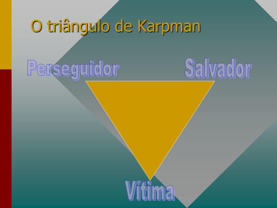 O triângulo de Karpman Salvador Perseguidor Vítima