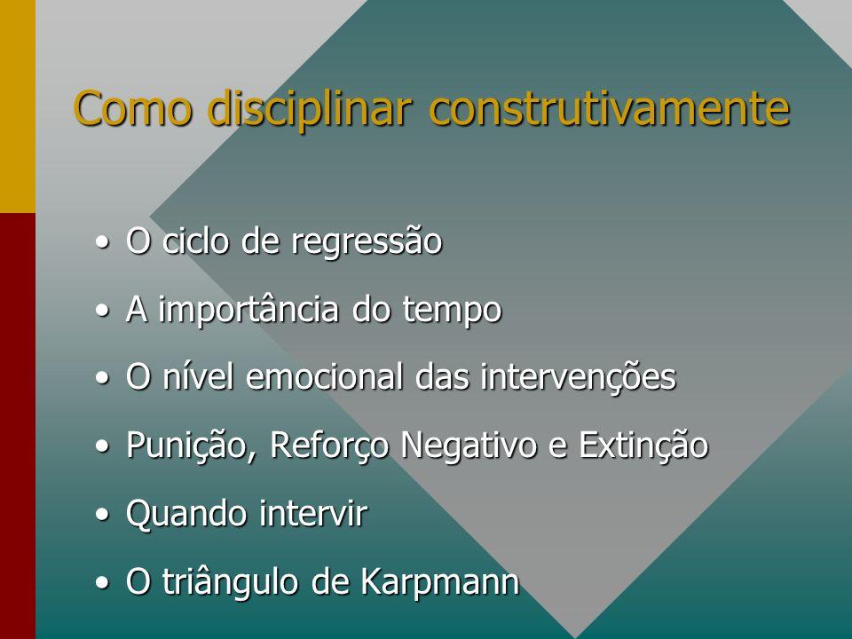 Como disciplinar construtivamente
