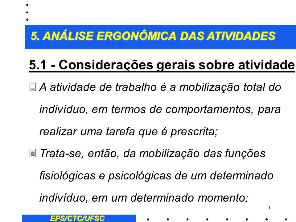 5.1 - Considerações gerais sobre atividade: