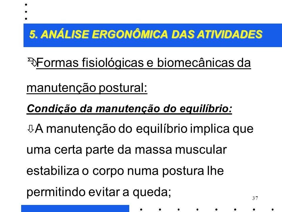 Formas fisiológicas e biomecânicas da manutenção postural: