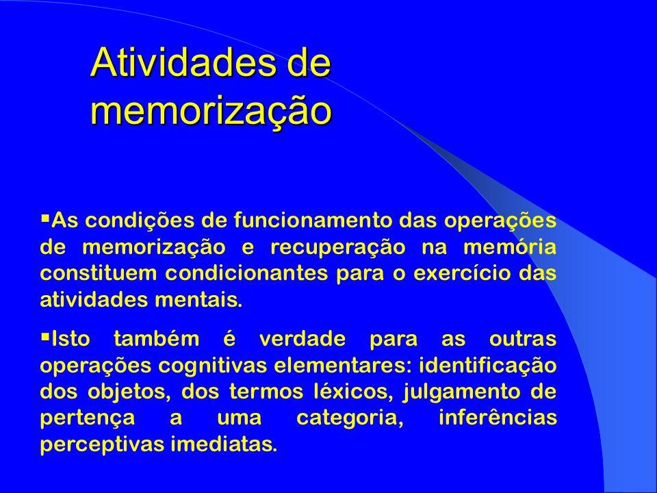 Atividades de memorização