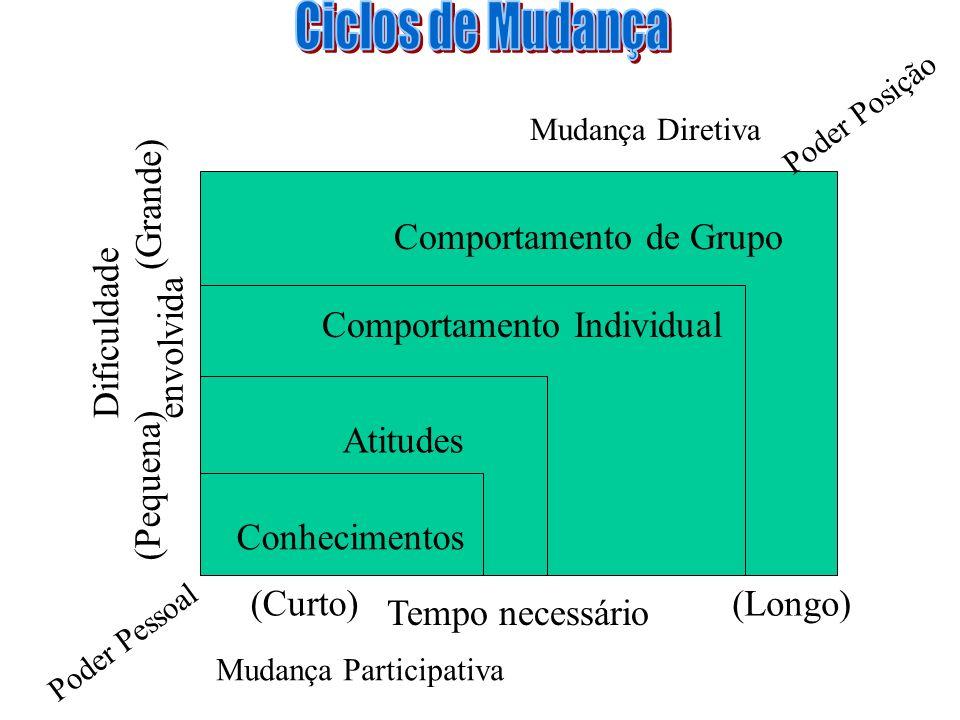 Ciclos de Mudança (Grande) Comportamento de Grupo Dificuldade
