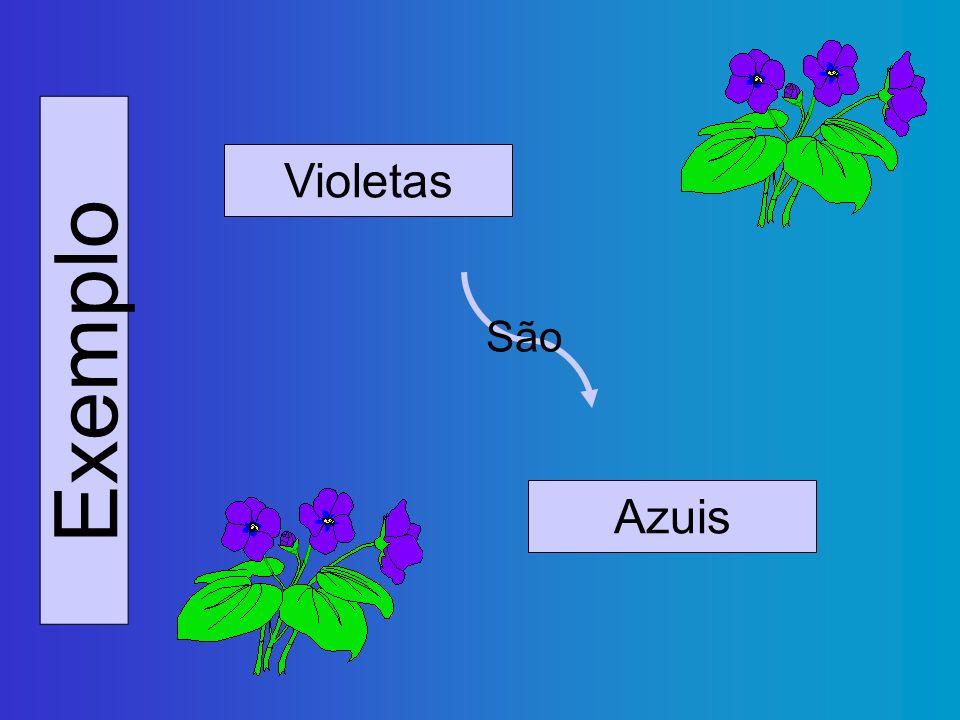 Violetas São Exemplo Azuis